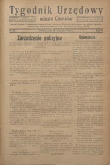 Tygodnik Urzędowy miasta Chorzów.R.4, nr 36 (25 września 1937)