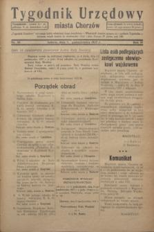 Tygodnik Urzędowy miasta Chorzów.R.4, nr 38 (9 października 1937)