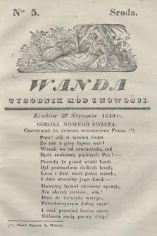 Wanda : tygodnik mód i nowości. 1830, nr5