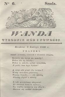 Wanda : tygodnik mód i nowości. 1830, nr6