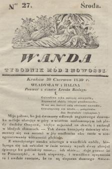 Wanda : tygodnik mód i nowości. 1830, nr27