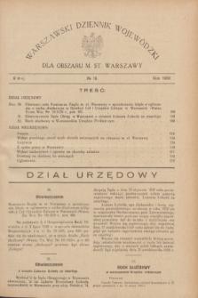Warszawski Dziennik Wojewódzki dla Obszaru M. St. Warszawy.R.8 [i.e.10], № 19 (9 maja 1929)