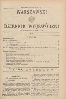 Warszawski Dziennik Wojewódzki dla Obszaru m. st. Warszawy.1931, № 5 (5 lutego)