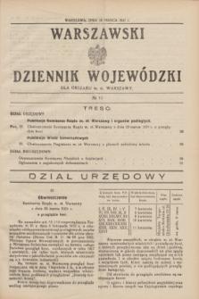 Warszawski Dziennik Wojewódzki dla Obszaru m. st. Warszawy.1931, № 11 (26 marca)