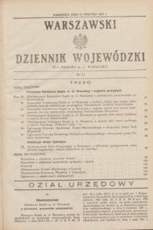 Warszawski Dziennik Wojewódzki dla Obszaru m. st. Warszawy.1931, № 13 (10 kwietnia)