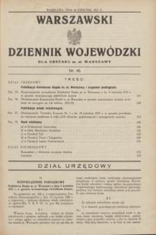Warszawski Dziennik Wojewódzki dla Obszaru m. st. Warszawy.1931, nr 16 (30 kwietnia)
