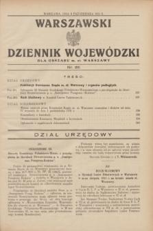 Warszawski Dziennik Wojewódzki dla Obszaru m. st. Warszawy.1931, nr 39 (8 października)