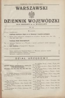 Warszawski Dziennik Wojewódzki dla Obszaru m. st. Warszawy.1932, nr 2 (14 stycznia)
