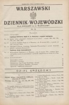 Warszawski Dziennik Wojewódzki dla Obszaru m. st. Warszawy.1932, nr 5 (4 lutego)