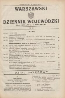 Warszawski Dziennik Wojewódzki dla Obszaru m. st. Warszawy.1932, nr 7 (18 lutego)