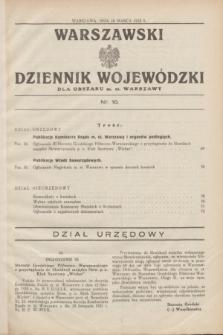 Warszawski Dziennik Wojewódzki dla Obszaru m. st. Warszawy.1932, nr 10 (10 marca)