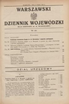 Warszawski Dziennik Wojewódzki dla Obszaru m. st. Warszawy.1932, nr 20 (19 maja)