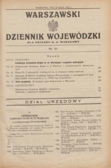 Warszawski Dziennik Wojewódzki dla Obszaru m. st. Warszawy.1932, nr 21 (27 maja)