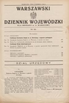 Warszawski Dziennik Wojewódzki dla Obszaru m. st. Warszawy.1932, nr 22 (2 czerwca)