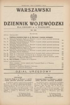Warszawski Dziennik Wojewódzki dla Obszaru m. st. Warszawy.1932, nr 23 (9 czerwca)