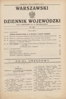 Warszawski Dziennik Wojewódzki dla Obszaru m. st. Warszawy.1932, nr 24 (16 czerwca)