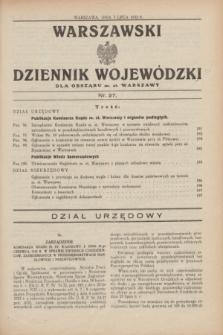 Warszawski Dziennik Wojewódzki dla Obszaru m. st. Warszawy.1932, nr 27 (7 lipca)