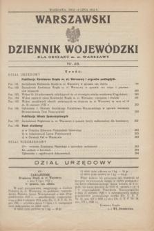 Warszawski Dziennik Wojewódzki dla Obszaru m. st. Warszawy.1932, nr 28 (14 lipca)