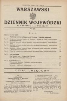 Warszawski Dziennik Wojewódzki dla Obszaru m. st. Warszawy.1932, nr 29 (21 lipca)