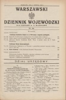 Warszawski Dziennik Wojewódzki dla Obszaru m. st. Warszawy.1932, nr 32 (11 sierpnia)