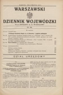 Warszawski Dziennik Wojewódzki dla Obszaru m. st. Warszawy.1932, nr 36 (8 września)