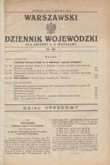 Warszawski Dziennik Wojewódzki dla Obszaru m. st. Warszawy.1932, nr 38 (24 września)