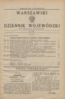 Warszawski Dziennik Wojewódzki dla Obszaru m. st. Warszawy.1932, nr 44 (24 listopada)