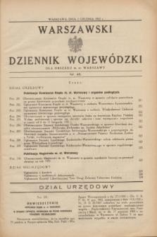 Warszawski Dziennik Wojewódzki dla Obszaru m. st. Warszawy.1932, nr 45 (2 grudnia)