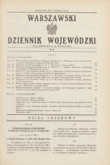 Warszawski Dziennik Wojewódzki dla Obszaru m. st. Warszawy.1935, nr 6 (14 marca)