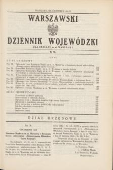 Warszawski Dziennik Wojewódzki dla Obszaru m. st. Warszawy.1935, nr 12 (8 czerwca)