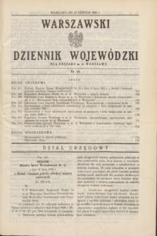 Warszawski Dziennik Wojewódzki dla Obszaru m. st. Warszawy.1935, nr 18 (23 sierpnia)