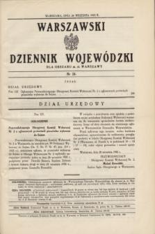 Warszawski Dziennik Wojewódzki dla Obszaru m. st. Warszawy.1935, nr 21 (28 września)