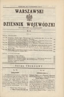 Warszawski Dziennik Wojewódzki dla Obszaru m. st. Warszawy.1935, nr 22 (9 października)