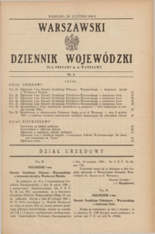 Warszawski Dziennik Wojewódzki dla Obszaru m. st. Warszawy.1936, nr 3 (12 lutego)