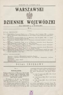 Warszawski Dziennik Wojewódzki dla Obszaru m. st. Warszawy.1937, nr 1 (11 stycznia)