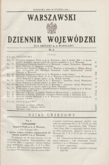 Warszawski Dziennik Wojewódzki dla Obszaru m. st. Warszawy.1937, nr 2 (30 stycznia)