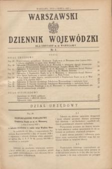 Warszawski Dziennik Wojewódzki dla Obszaru m. st. Warszawy.1937, nr 3 (4 marca)