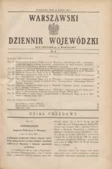 Warszawski Dziennik Wojewódzki dla Obszaru m. st. Warszawy.1937, nr 4 (31 marca)
