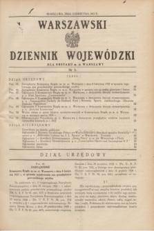Warszawski Dziennik Wojewódzki dla Obszaru m. st. Warszawy.1937, nr 5 (13 kwietnia)
