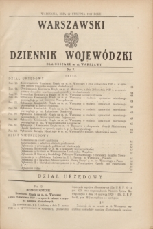 Warszawski Dziennik Wojewódzki dla Obszaru m. st. Warszawy.1937, nr 7 (27 kwietnia)