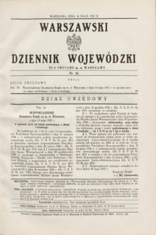 Warszawski Dziennik Wojewódzki dla Obszaru m. st. Warszawy.1937, nr 10 (14 maja)