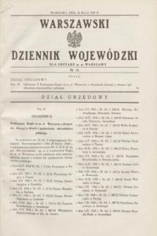 Warszawski Dziennik Wojewódzki dla Obszaru m. st. Warszawy.1937, nr 11 (22 maja)