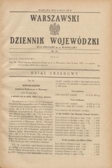 Warszawski Dziennik Wojewódzki dla Obszaru m. st. Warszawy.1937, nr 13 (31 maja)