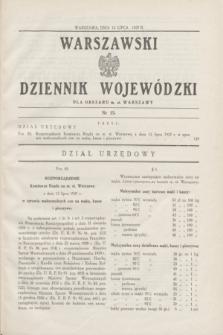 Warszawski Dziennik Wojewódzki dla Obszaru m. st. Warszawy.1937, nr 15 (13 lipca)