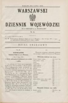 Warszawski Dziennik Wojewódzki dla Obszaru m. st. Warszawy.1937, nr 16 (14 lipca)