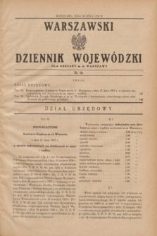 Warszawski Dziennik Wojewódzki dla Obszaru m. st. Warszawy.1937, nr 18 (28 lipca)
