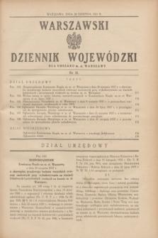 Warszawski Dziennik Wojewódzki dla Obszaru m. st. Warszawy.1937, nr 21 (28 sierpnia)