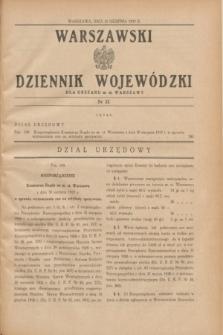 Warszawski Dziennik Wojewódzki dla Obszaru m. st. Warszawy.1937, nr 22 (31 sierpnia)