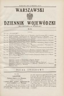 Warszawski Dziennik Wojewódzki dla Obszaru m. st. Warszawy.1937, nr 23 (23 września)
