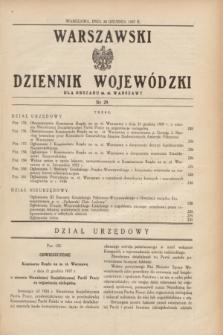 Warszawski Dziennik Wojewódzki dla Obszaru m. st. Warszawy.1937, nr 29 (28 grudnia)